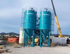 Constmach cement silo 50 TONNES CAPACITY CEMENT SILO, READY FROM STOCK